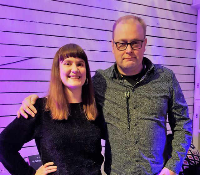 Turku Jazz Orchestran tuotantovastuu siirtyy Salla Karvoselta Jusu Heinoselle. Kuva: Sanna Vartiainen