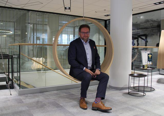 Raimo Rytö LähiTapiolan uudella Elämänturvatalolla